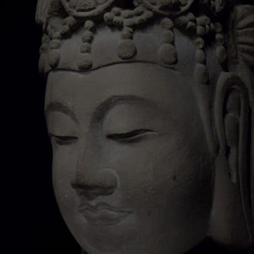 Drawing Study – Limestone Head of Buddha (2021) by Wu Chi-Tsung