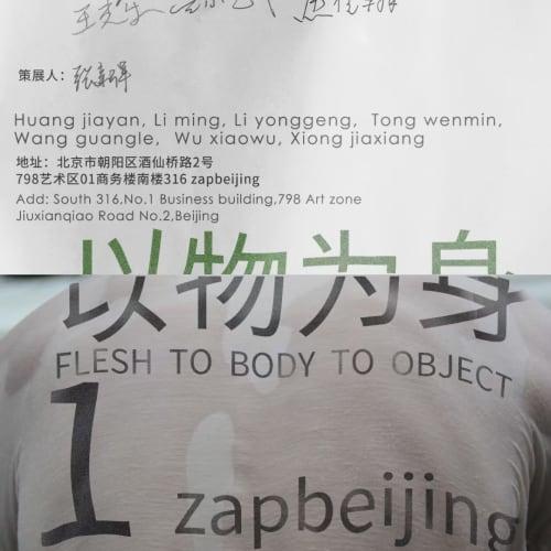 Flesh to Body to Object, zapbeijing, 2021