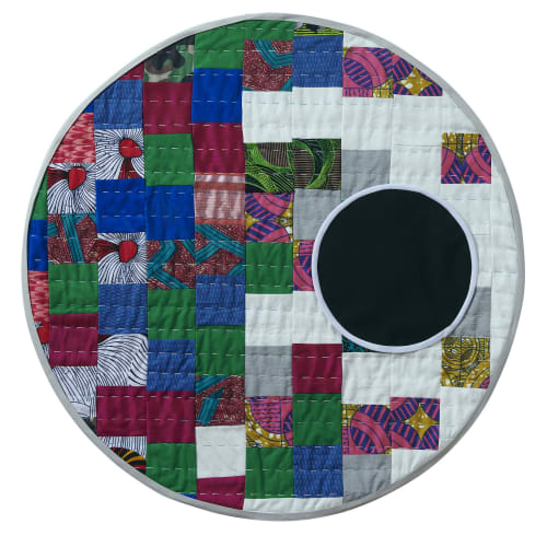Adia Millett Black Moon, 2020 Cotton upholstery, fabric and silk Diameter: 77.5 cm
