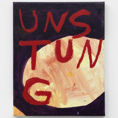 Samuel Jablon  Untitled, 2018  Oil and acrylic on canvas  25.4 x 20.3 cm  36 x 31 cm (framed)