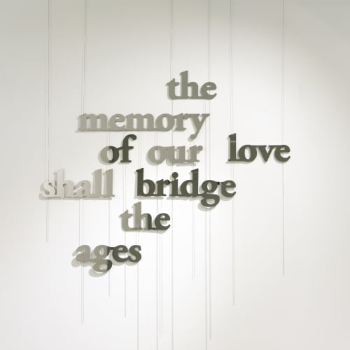 Laurent Pernot, The memory of our love shall bridge the ages, 2021