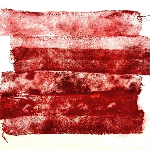 Wang Huangsheng 王璜生 Diary of an Epidemic 20200206 (detail) 疫期日記20200206(局部) Ink rubbing on paper 紙本水墨拓印 100 × 68 cm, 2020