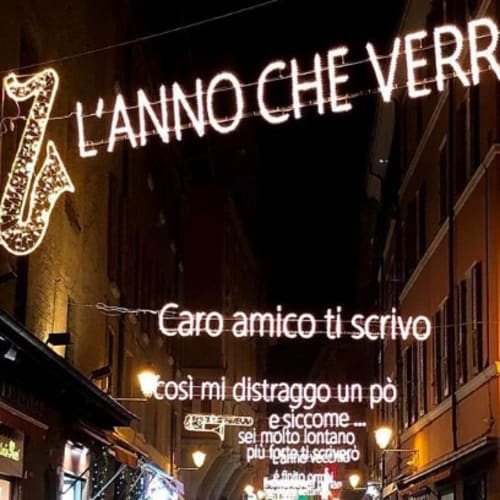 © Maggiore g.a.m. | Via D'Azeglio with the Christmas Lights dedicated to Lucio Dalla, Bologna 2018 / 2019
