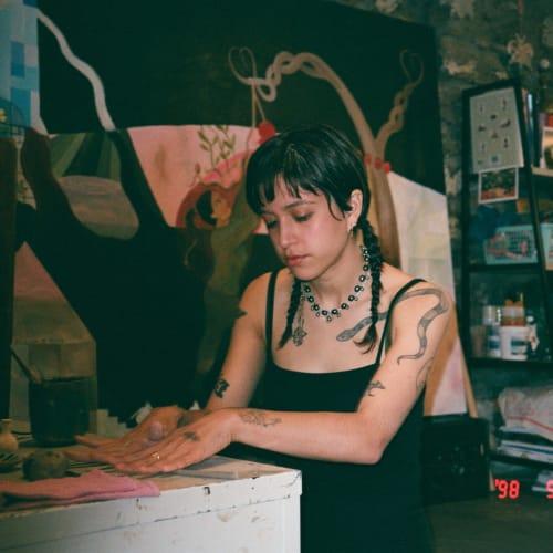 Astrid Terrazas en su estudio.