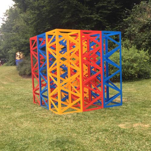 Rasheeed Araeen, Summertime - The Regent's Park, 2017