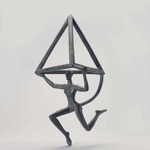 Dhruva Mistry (b. 1957) Hanuman: Study for Spatial Metaphor, 1989 Bronze Edition 1 of 5 37 x 22 x 18cm....