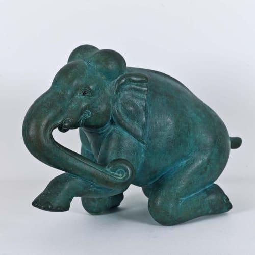 Dhruva Mistry (b. 1957) White Elephant, 1989-90 Bronze, edition of 5 40 x 18 x 27cm. (15 ¾ x 7...