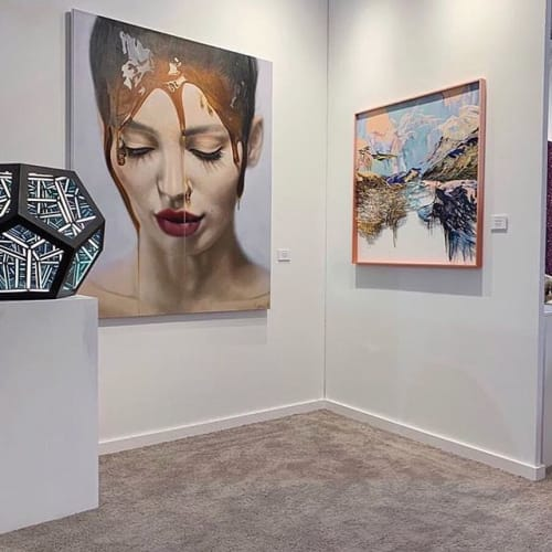 Photo by HOFA Gallery-House of Fine Art in Art Miami. Image may contain: 1 person