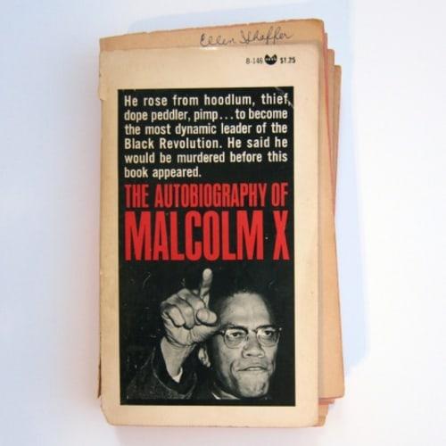 Sadie Barnette, Untitled (Mom's Malcolm X), 2015