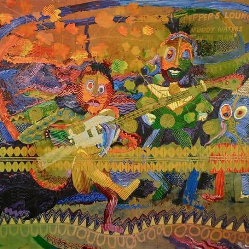 WADSWORTH JARRELL Juju Man from the Delta, 1985acrylic on canvas