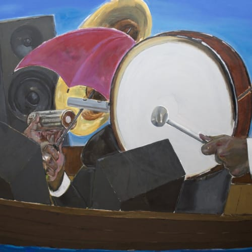 Enrico Riley, Untitled: Music, Rhythmaning, Keeping Time, Time Travelers, 2020