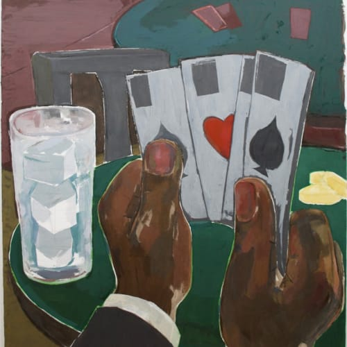Enrico Riley, Untitled: Inheritance, The Card Player, 2019