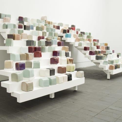 Emmanuel Boos (b. 1969) Cobblestones. Jerwood Makers Open, 2011. Installation Shot, Jerwood Space. Photo: Thomas Rydin.