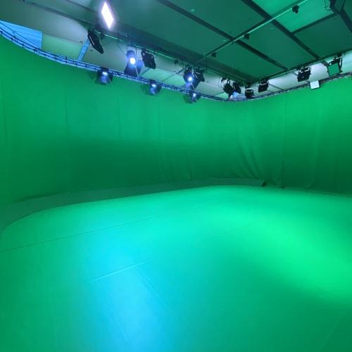 Green Screen Studio at DanceEast. Image courtesy of DanceEast