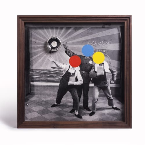 蔡东东, 红黄蓝, 银盐照片, 丙烯 Cai Dongdong, Red-Yellow-Blue, Silver Print, Acrylic 40.5x40.5cm 2019