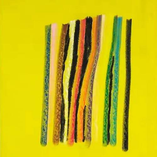 马克斯·赫克尔, 序言, 油画棒, 布面及炭笔 Max Huckle, Prologue, Oil Pastel, Charcoal on Linen 50x40 cm 2018