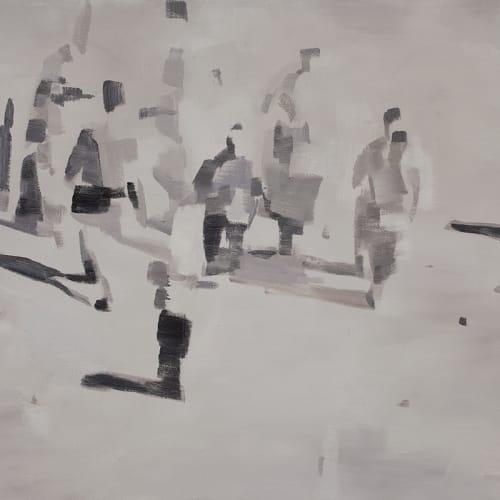 牟桓, 事件1, 布面油画 Mou Huan, Events 1, Oil on canvas 120x150cm 2010