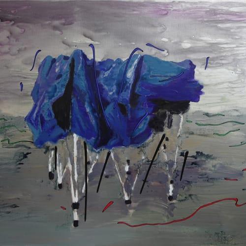 李易纹, 波动, 布面丙烯 Li Yiwen, Wave Motion, Acrylic on canvas 150×170cm 2018