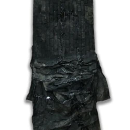 纪念碑 #9,2008 宣纸,、墨、蜡、树脂 315 x 145 x 10 cm