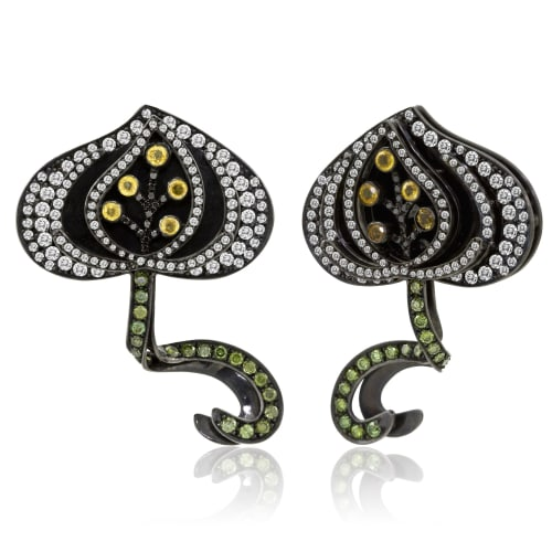 Pomegranate earrings, 2010