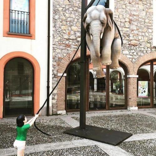"""""""Marta e l'Elefante"""" in Sarezzo, 2019."""