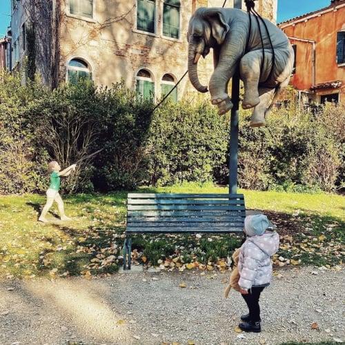 """""""Marta e l'Elefante"""" in Venice, 2020."""