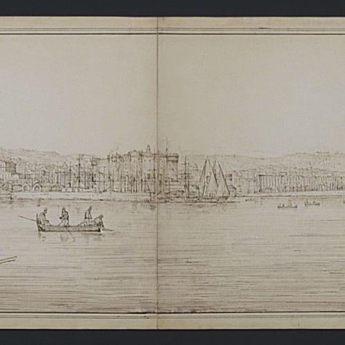 Antonio SENAPE, Panorama di Napoli dal mare, XIX secolo