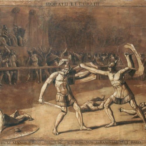 Luigi ADEMOLLO, The duel between the Horatii and the Curiatii, Circa 1790-1795