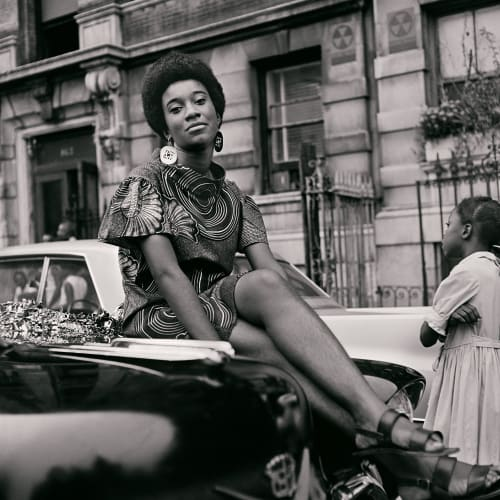 Kwame Brathwaite, Untitled (Pat on Car) (1968). Archival pigment print.