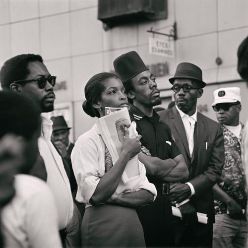 Kwame Brathwaite, Untitled (Garvey Day Parade - Harlem) (1967). Image courtesy of the artist and Philip Martin Gallery, Los Angeles.