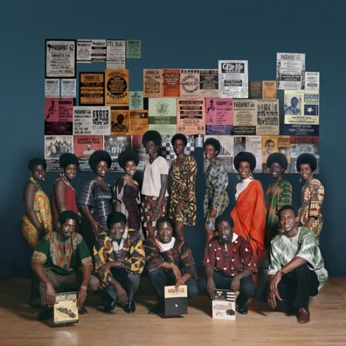 Kwame Brathwaite, Untitled (Naturally '68 photo shoot in the Apollo Theater featuring Grandassa mddels and founding AJASS members Kletus Smith,...