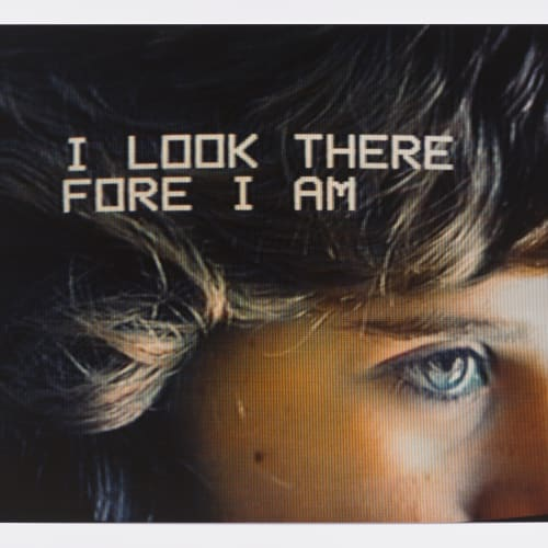 """Lew Thomas, """"I LOOK THEREFORE I AM from the series TELEVISION EYES,"""" (1985)."""