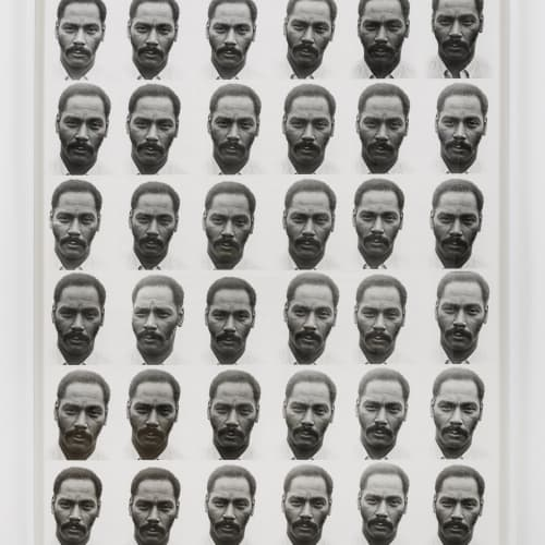 """Lew Thomas, """"PORTRAIT EQUALS 36 EXPOSURES,"""" (1972)."""