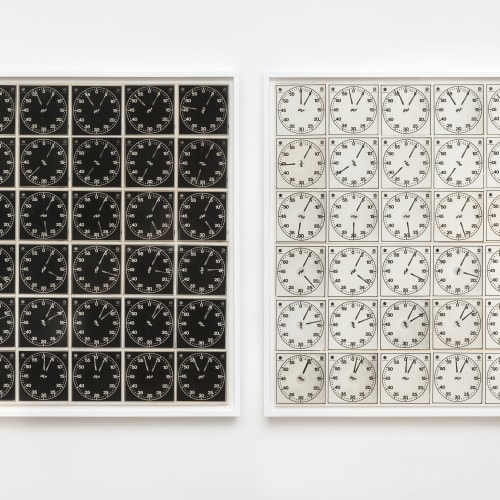 """Lew Thomas, """"TIME EQUALS 36 EXPOSURES (negative and positive sections),"""" (1971)."""