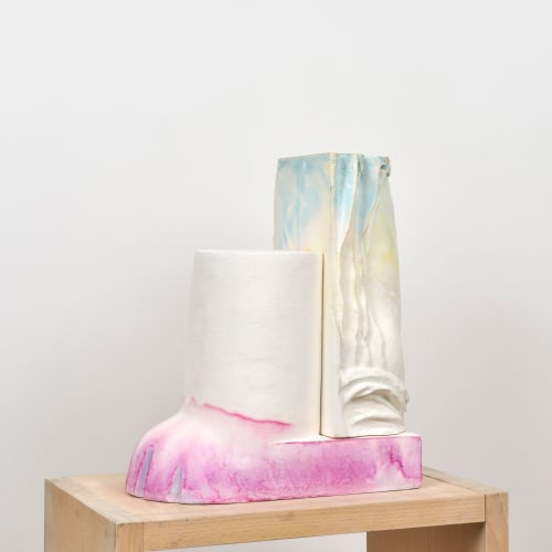 Maude Maris - Pink Sculpture - 2019 - plaster and ink - 37 x 31 x 17 cm