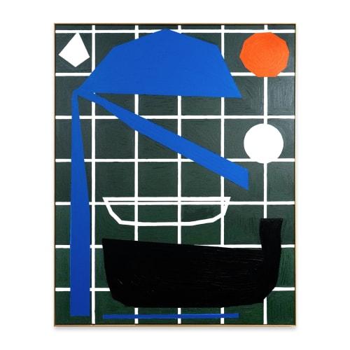 Bertrand Fournier, Bath, 2020, oil on linen, 150 x 120cm