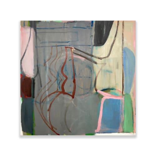 Terry Ekasala, Interior, 2019, oil on linen, 56 x 56cm
