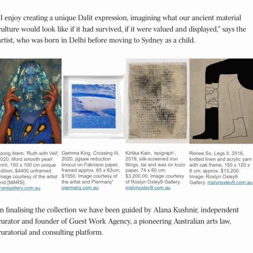 Gemma King's lino print 'Crossing III' in The Australian