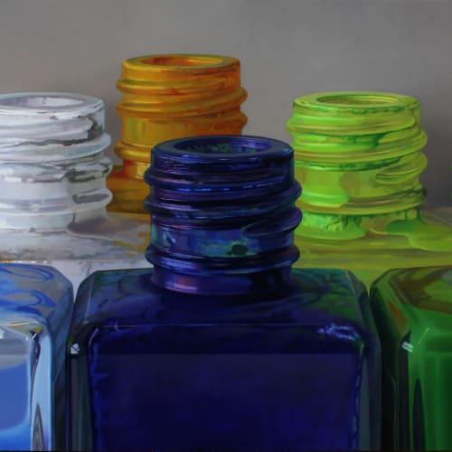 """Javier Banegas  """"Colours VII""""  Oil on panel  85 x 190 cm"""