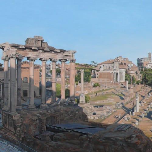 "David Wheeler  ""The Forum, Rome""  56 x 130 cm  Oil on linen"