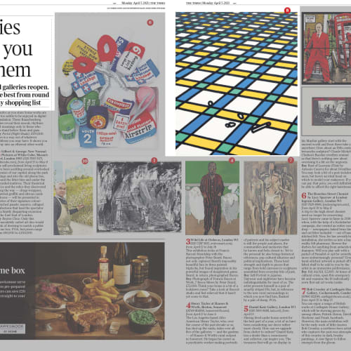 The double-page spread with highlights
