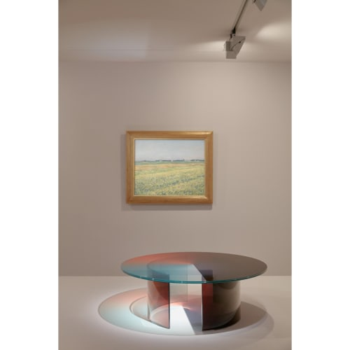 NGV Triennial 2020 installation view; Rive Roshan, Colour dial table, sunrise light (table) 2020, Proposed acquisition © Rive Roshan. Photo: Tom Ross