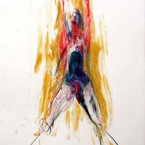 Isabelle Grobler, The Cannibals' Concupiscence : Concupiscence : Ascend, 2020, Mixed media on paper, 37 x 40 cm