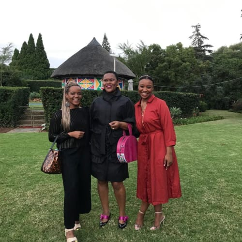 From the left: Ruzy Rusike, Amanda Dambuza and Khumi Waleng-Friedman