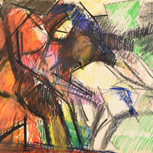 Lovers Study No.9, c.1970 Pastel on paper 22 x 30 in