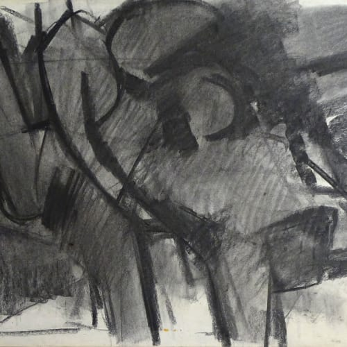 Lovers Study No.1, c.1970 Charcoal on paper 22 x 30 in