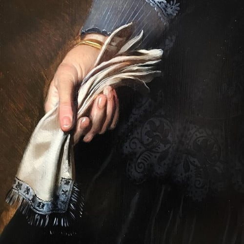 The gloves are off! A couple of details from two Dutch golden age portraits that have recently arrived at the gallery. #dutchgoldenage #portrait #pickenoy #cool #glovesareoff #whoddiditbetter #happyfriday #weissgallery #recentacquistions