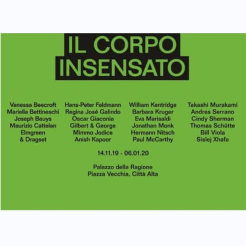 Il corpo insensato November 14, 2019 - January 6, 2020 Palazzo della Ragione Piazza Vecchia 8A, 24129 Bergamo