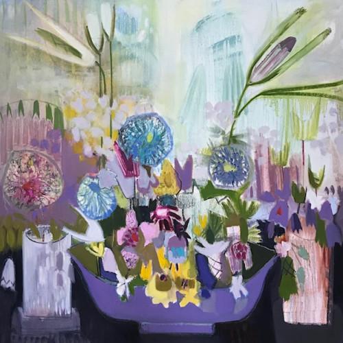 Annabel Fairfax - Mauve Bowl (Hungerford Gallery)