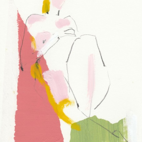 Jane Martin - Pink and Apple Green (Hungerford Gallery)